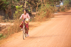 Way Home (Gigin - NoDigital) Tags: street people woman bicycle asia cambodia objects transportation geography siemreap