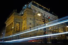 National theater (Stanislav Trifonov) Tags: city lighttrails night longexposure