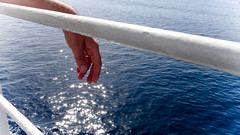 Floating in a daydream (babs van beieren) Tags: sardegna blue light sea sun water stars soft dream rays