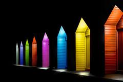 Giant Crayola (Gavin_D2009) Tags: beachhuts huts night colour lights vibrant leadinglines nikon d800 gjduncanphotography brilliant