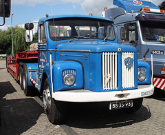 Classic Scania semi truck (The Rubberbandman) Tags: auto tractor classic truck germany big tank sweden outdoor cab transport 110 engine super swedish semi german rig vehicle l trailer freight scania vabis fahrzeug haul wilhelmshaven laster l110