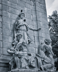 one of the statues on The USS Maine National Monument at Columbus Circle (Singing With Light) Tags: 2016 2nd alpha6000 central columbuscircle milford mirrorless morningstroll ny nyc nycfog singingwithlight sonya6000 july photography singingwithlightphotography sony