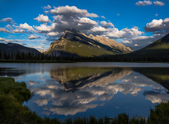 Mt Rundle cloudy (Robert Ron Grove 2) Tags: clouds cloudy mountain rundle robertgrove reflections banff canada