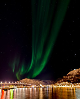 Harbour lights and Northern Lights