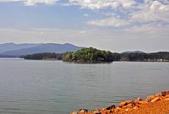 CHATUGE DAM 1 (KayLov) Tags: vacation travel mountains ga georgia camping lake dam chatuge shore island landscape