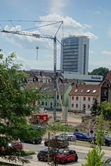 construction work in Offenburg (2) (BZK2011) Tags: sony rx100 offenburg baustelle bauarbeiten hochhaus