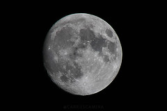 Waxing Gibbous Moon (Carrie'sCamera) Tags: moon sky night astrology canon canont6s waxingmoon tamronlens waxinggibbous