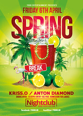 Spring Break Party | Festival Collection. (Rome Creation) Tags: bash big blue break clean club college creation cup day event festival flyer fruit lounge modern music palm party photoshop pool rome sand spring summer templates tropical water new outside romecreation creative