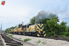 Smokeing Pride (Twigy BNSF) Tags: cnw chicago northwestern rsd5 sd402 dash9 irm illinois railway museum
