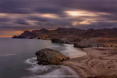 Lonely World (Fernando Hueso Photography) Tags: sea seascape monsul almeria andalucia spain espaa atardecer waves olas longexposure long exposure filtro nd densidad neutra lonely world