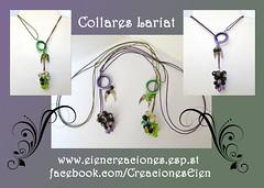 Collares Lariat (eiencreaciones) Tags: collares lariat perlascristal charm cordónencerado handmade hechoamano delicas rocallas aro