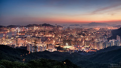 Kowloon Peak  (mikemikecat) Tags: kowloonpeak  kowloon hongkong sonya7r a7r mikemikecat sony stacked building colorful blue       nightscape urban  h        magicmoment sel2470z sunset hdr