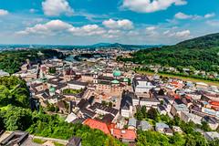 Salzburg (Tuomo Lindfors) Tags: itvalta sterreich austria salzburg dxo filmpack topazlabs adjust hohensalzburg linnoitus fortress festung vanhakaupunki oldtown altstadt