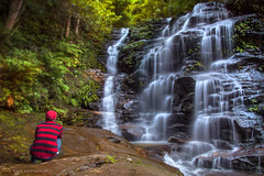 Sylvia Falls And Me || VALLEY OF THE WATERS || BLUE MOUNTAINS (rhyspope) Tags: australia aussie nsw new south wales canon 5d mkii blue mountains valley waters waterfall creek stream river selfie rhys pope rhyspope forest woods nature trees bush green fern rainforest