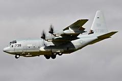 165738/BH KC-130J USMC landing at Prestwick (EGPK) Scotland (Allan Durward) Tags: pik egpk prestwick scotland prestwickairport glasgowprestwick prestwickscotland kc130j c130 hercules usmc marines usmarines military landing tanker airtoair