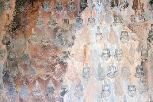 Miniature carved Buddhas