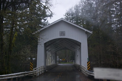 Covered bridge - taken through the windshield (it's awful, but oh well).