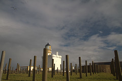 Kinnaird Head Castle Lighthouse (grumpybaldprof) Tags: sea lighthouse colour castle history architecture modern clouds port coast scotland fishing ancient marine aberdeenshire north shipping hdr fraserburgh kinnaird