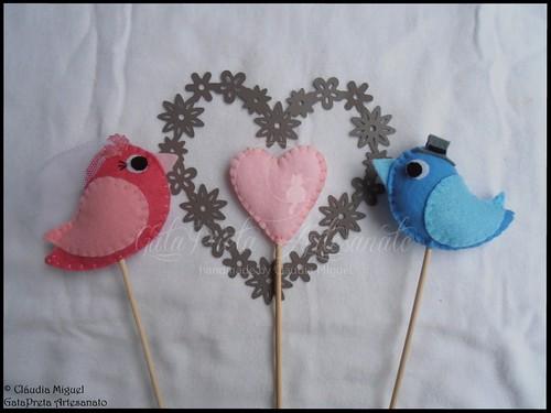 Love Birds-topo bolo