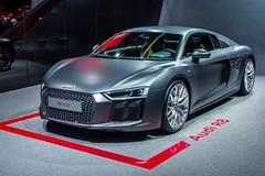 Audi R8 V10 (Keinsei2) Tags: auto show cars car sport switzerland fuji suisse expo geneva geneve voiture event fujifilm salon motor autos audi genve  supercar coches v10 automobili r8 palexpo 2015 rassemblement xa1  worldcars