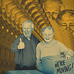 089  365  IV (Randomographer) Tags: people art leave digital photoshop moving couple move repetition older psychedelic relocate 89 project365
