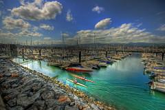 Let's Go.... (Asi75er) Tags: sport clouds port canon puerto mar barco ship nubes deporte vasco euskalherria euskadi piraguas getxo piraguismo