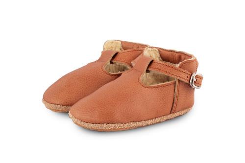 Bootie Elia C Shoes Leather Cognac