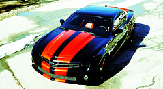 """2010 Camaro with Inferno Orange Stripes • <a style=""""font-size:0.8em;"""" href=""""http://www.flickr.com/photos/85572005@N00/16881726696/"""" target=""""_blank"""">View on Flickr</a>"""