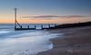 Hayling Island (chrisbutton68) Tags: longexposure sunset sea england beach horizontal coast sand harbour outdoor dusk tide haylingisland scenic hampshire erosion shore portsmouth protection groyne langstone langstoneharbour longshoredrift havant
