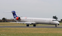 SAS CRJ-900 OY-KFD (birrlad) Tags: ireland dublin airplane airport taxi aircraft aviation airplanes jet international airline airways sas airlines departure takeoff runway dub regional airliner departing canadair taxiway crj900 oykfd