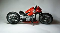 Lego Technic Chopper (hajdekr) Tags: red chopper lego wheels chainlink motorbike technic motorcycle moc legotechnic myowncreation vengine legotoyline