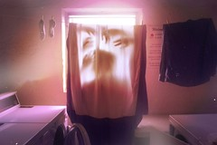(Honeylambs) Tags: old light shadow sun window socks shirt vintage scary hands warm shadows ghost profile machine dry clothes laundry blanket hanging dust cleaner washing eery drying
