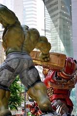 The Incredible Hulk versus Iron Man (Mark Obusan) Tags: man green iron battle tony armor superhero shield punch boxing hulk marvel stark incredible armour manny causewaybay avengers tonystark theavengers pacquiao brucebanner mayweather model14 hulkbuster modularaddon hysanplace ageofultron