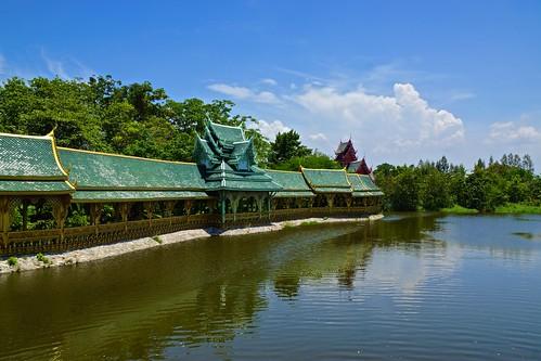 The Botanical Garden of Thai Literature in Muang Boran (Ancient Siam) in Samut Prakan, Thailand