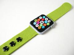 Super Low-Tech Apple Watch (hine) Tags: green handmade craft felt etsy hine applewatch hinemizushima
