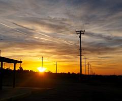 High desert sunday sunset