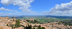Montalcino, Tuscany - Italy #2 (The world is my canvas) Tags: travel sky italy clouds landscape town nikon europe rooftops wine wideangle tuscany oliveoil toscana vinyards nikkorlens italianlandscape montalchino nikkor2470mmf28 italianwinecountry italiantowns oliodiolivia oliveplantations d800e brunellodimontalchino