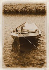 a boat called salacia (Duncan the road rebel) Tags: blackandwhite water sepia boat rowing toned rowingboat salacia