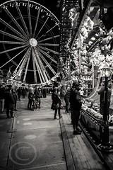 London Nov 2015 (7) 034 - Winter Wonderland in Hyde Park (Mark Schofield @ JB Schofield) Tags: park christmas street city winter england white black london monochrome canon fairground carousel hyde oxford rides nightlife wonderland stalls 5dmk3