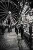 London Nov 2015 (7) 034 - Winter Wonderland in Hyde Park (Mark Schofield @ JB Schofield) Tags: park christmas street city winter england white black london monochrome canon fairground carousel hyde oxford rides nightlife wonderland stalls 5dmk3