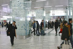 Hakata-eki (Brian Aslak) Tags: city people urban station japan train hall asia rush  fukuoka kyushu   hakata  rautatieasema  hakataeki