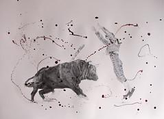 El Banderilleros 3 (www.kevinmaxwellsfineart.com) Tags: bulls bullfighting josetomas graphite chinagraph blood anegitive blackandwhite toros torosymatadores matadores drawing spanish espana banderilleros