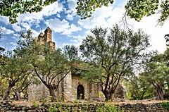 Chapelle de Cazeneuve (sergecos) Tags: chapelle chapel hdr religion difice vieux old arbres trees nature clocher steeple church glise olivier landscape paysage nikon d7000