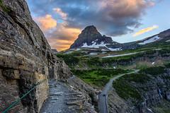 Clements Mountain, Montana [Explored] (WherezJeff) Tags: clements goingtothesun highline montana np sunset cloud glacier mountain overcast trail westglacier unitedstates us