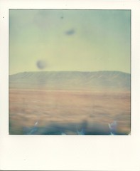 Hills they call mountains (~KIM~) Tags: polaroid sx70 easternwashington natureycrap impossibleproject