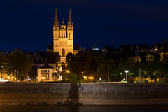 la cathdrale d'Angers (gribsy) Tags: angers night nuit ville lumire ambiance cit