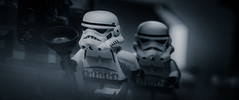 when no one is watching (we are invisible) (alternative frame) (jooka5000) Tags: alternative frame cinema starwars stormtroopers watching invisible lego toyphotography deathstar widescreen cinematography diorama movie plunger cinematic duo