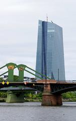 Frankfurt, Ignaz-Bubis-Brcke,  Flerbrcke und EZB (HEN-Magonza) Tags: frankfurt hessen hesse germany main ignazbubisbrcke flserbrcke ezbtower ecbtower hochhaus highrisebuilding