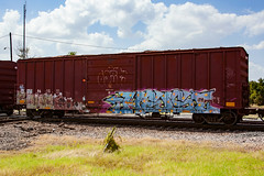 (o texano) Tags: houston texas graffiti trains freights bench benching gouls ghouls goreb a2m adikts gtb wh heist