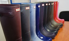 Hunter colour range (peternature) Tags: boots rubber hunter wellies gummistiefel